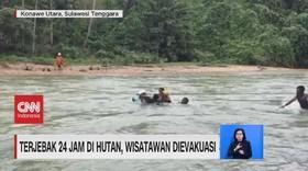 VIDEO: Terjebak 24 Jam di Hutan, Wisatawan Dievakuasi