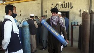 FOTO: Oksigen Gratis untuk Pasien Covid-19 Miskin Afghanistan
