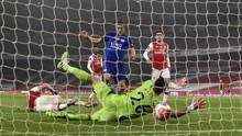 Top Skor Liga Inggris: Vardy Jaga Jarak dengan Aubameyang