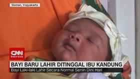 VIDEO: Bayi Baru Lahir Ditinggal Ibu Kandung