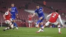 Injak Wajah Bek Arsenal, Vardy Luput dari Sanksi FA