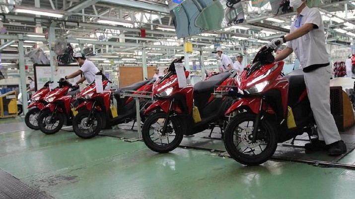 Ilustrasi Pabrik Sepeda Motor (Dok. AHM)