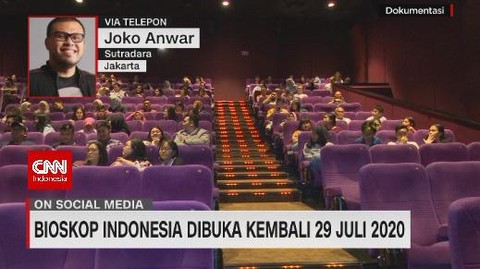 VIDEO: Bioskop Indonesia Dibuka Kembali, Ini Kata Joko Anwar