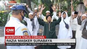 VIDEO: Razia Masker Surabaya, Kelompok Warga Berzikir