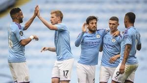 FOTO: Pesta Lima Gol Man City ke Gawang Newcastle