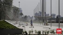 Revitalisasi Pedestrian Monas Kembali Dimulai Pekan Depan