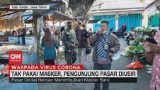 VIDEO: Tak Pakai Masker, Pengunjung Pasar Diusir