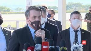 VIDEO: Positif Covid-19, Presiden Brasil Nekat Lepas Makser
