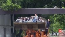 VIDEO: Banjir Tak Halangi Siswa di China Ikut Ujian Masuk PTN