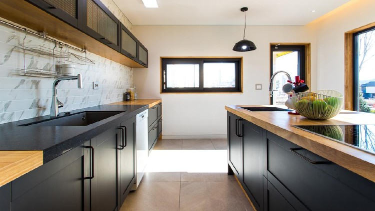 A modern interior kitchen for the housewife
