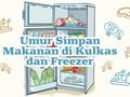 INFOGRAFIS: Umur Simpan Makanan di Kulkas dan Freezer