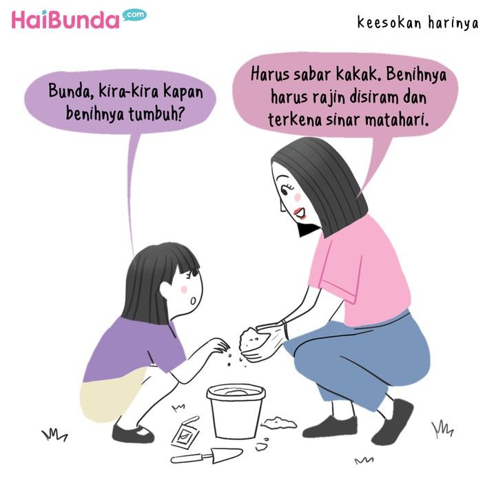 Komik HaiBunda Berkebun di Rumah