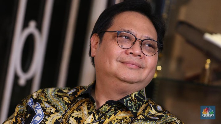 Foto: Menko Perekonomian Airlangga Hartarto (CNBC Indonesia/Muhammad Sabki)