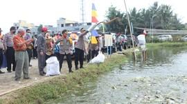 Kapolda Sumut Tebar 75 Ribu Bibit Ikan Demi Ketahanan Pangan