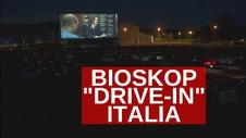 VIDEO: Warga Antusias Nonton Bioskop Drive-In di Italia