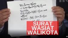 VIDEO: Surat Wasiat Wali Kota Park Won Soon