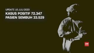VIDEO: 10 Juli, Positif Covid-19 di Indonesia Capai 72.347