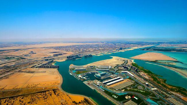 Aerial View of Yas Island Abu Dhabi