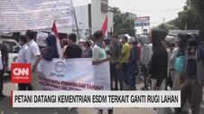VIDEO: Petani Demo Kementerian ESDM Terkait Ganti Rugi Lahan