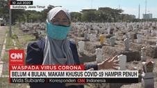 VIDEO: Belum 4 Bulan, Makam Khusus Covid-19 Hampir Penuh