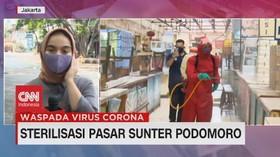 VIDEO: Sterilisasi Pasar Sunter Podomoro