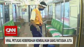 VIDEO: Viral Petugas Kebersihan Kembalikan Uang Ratusan Juta