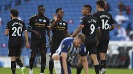 Hasil Liga Inggris: Sterling Hattrick, Man City Pesta Gol