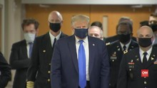 VIDEO: Momen Langka, Donald Trump Pakai Masker