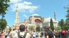 VIDEO: Museum Hagia Sophia Ditutup, Pengunjung Kecewa