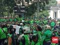 Demo, Ojol di Bandung Tuntut Layanan Bawa Penumpang Dibuka
