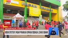 VIDEO: Meski Ditutup, Pasar Pramuka Dipakai Lokasi Senam