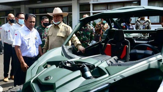 Pindad menyatakan pembelian alutsista Menhan Prabowo Subianto sejauh ini mencakup senapan serbu hingga rantis Maung.