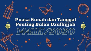 INFOGRAFIS: Kalender Puasa Sunah Bulan Dzulhijjah 1441H/2020