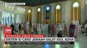 VIDEO: Masjid Al Akbar Terapkan ID Card Sholat Idul Adha