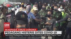 VIDEO: Pedagang Pasar Histeris saat Dites Covid-19