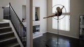Melissa James, a dancer and aerialist in the show