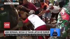 VIDEO: Asik Bermain, Bocah 12 Tahun Jatuh ke Sumur