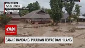 VIDEO: Puluhan Orang Hilang Terseret Banjir di Luwu Utara