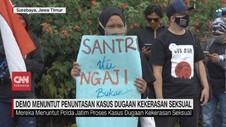 VIDEO: Demo Santri Tuntut Penuntasan Kasus Kekerasan Seksual