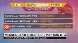 VIDEO: Menkes Ganti Istilah ODP, PDP dan OTG