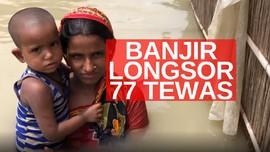 VIDEO: Banjir dan Longsor di India, 77 Orang Tewas