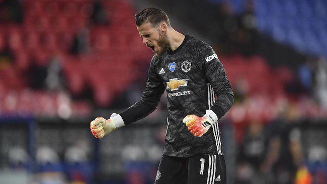 Penampilan cemerlang kiper Manchester United David de Gea usai membawa Man Utd ke final Liga Europa mendapat sorotan netizen.