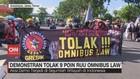VIDEO: Demonstran Tolak 9 Poin RUU Omnibus Law