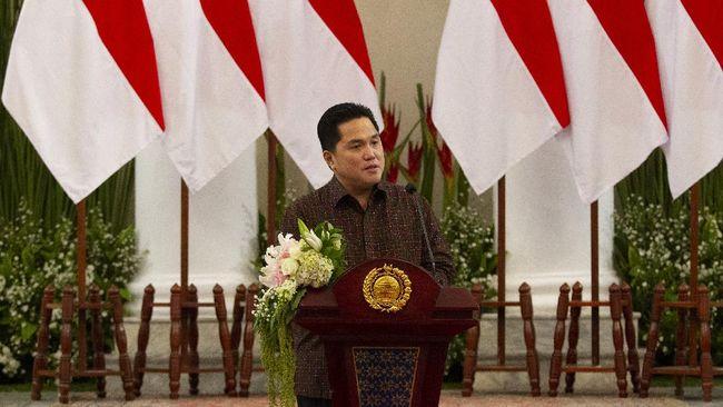 Menteri BUMN Erick Thohir terpilih menjadi Ketum Masyarakat Ekonomi Syariah menggantikan Wimboh Santoso.