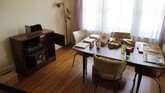 Berry Gordy's dining room in his apartment is seen during a tour of the Motown Museum, Wednesday, July 15, 2020, in Detroit. The Detroit building where Gordy built his music empire reopened its doors to the public on Wednesday. It had been closed since March due to the coronavirus pandemic. (AP Photo/Carlos Osorio)