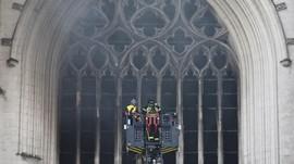 FOTO: Kebakaran Katedral Bersejarah di Nantes Prancis