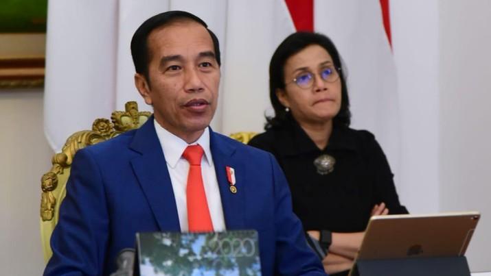 Jokowi dan Sri Mulyani (Biro Pers Setpres)