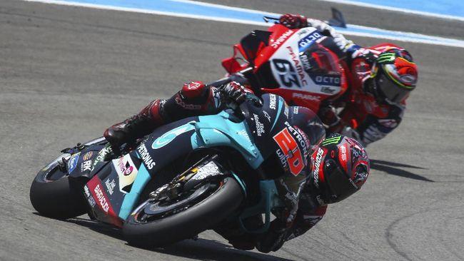 Fabio Quartararo menang MotoGP Andalusia 2020 di Sirkuit Jerez dengan mengalahkan Maverick Vinales dan Valentino Rossi.