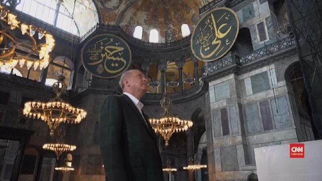 VIDEO: Presiden Erdogan Sidak Hagia Sophia
