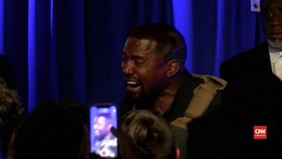 VIDEO: Tangis Kanye West Akui Ide Aborsi di Debut Kampanye